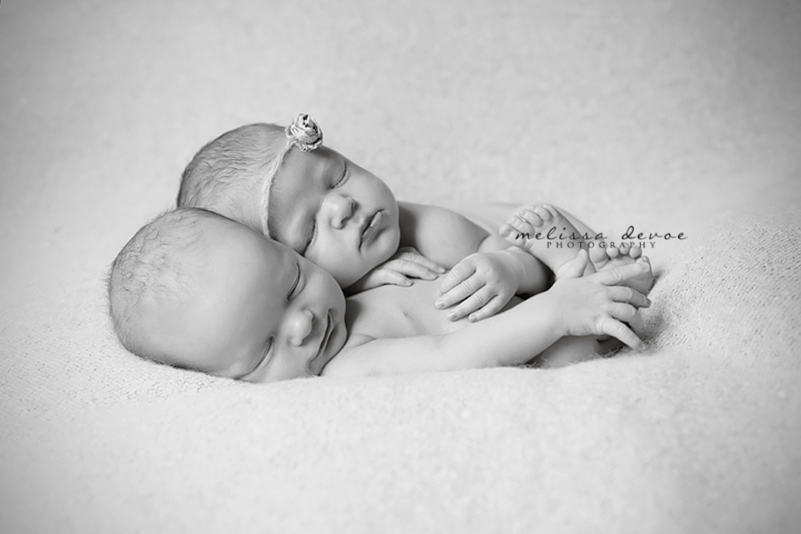 Melissa DeVoe Photography Raleigh Newborn Twins Photography