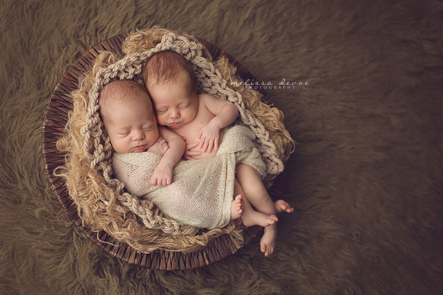 Melissa DeVoe Photography Raleigh Newborn Twins Photographer