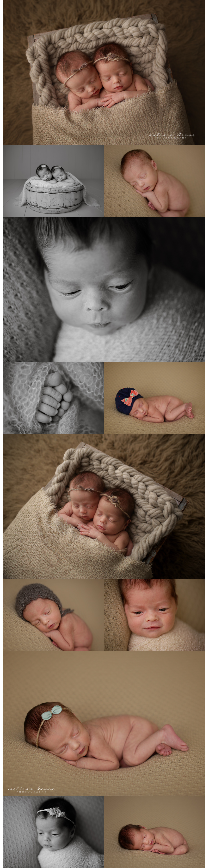 Melissa DeVoe Photography Raleigh Twins newborn Baby Photographer 1