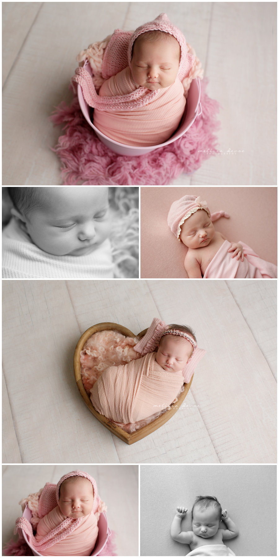 Infant baby girl photography Raleigh