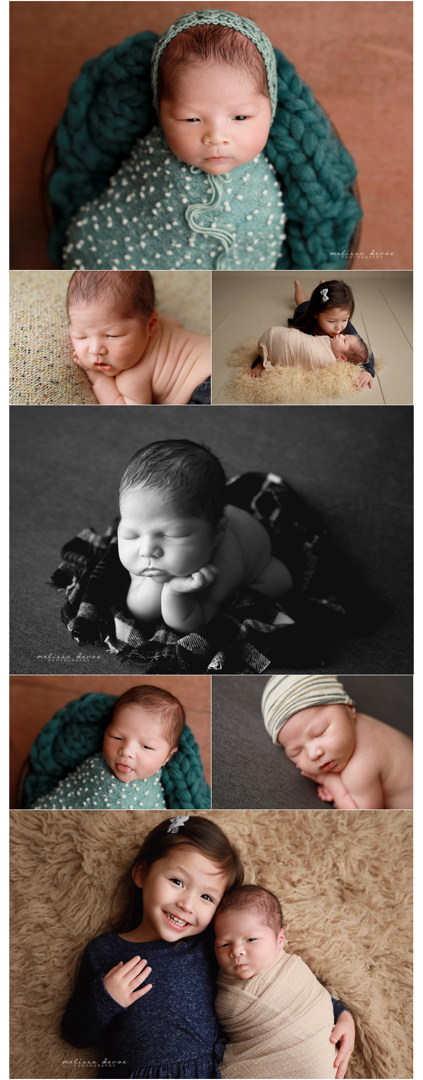 baby and big sister photography